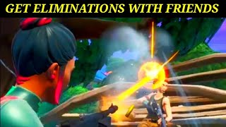 """WORK TOGETHER WITH FRIENDS TO GET ELIMINATIONS"" Fortnite Saison 9 Overtime Challenge Guide!"
