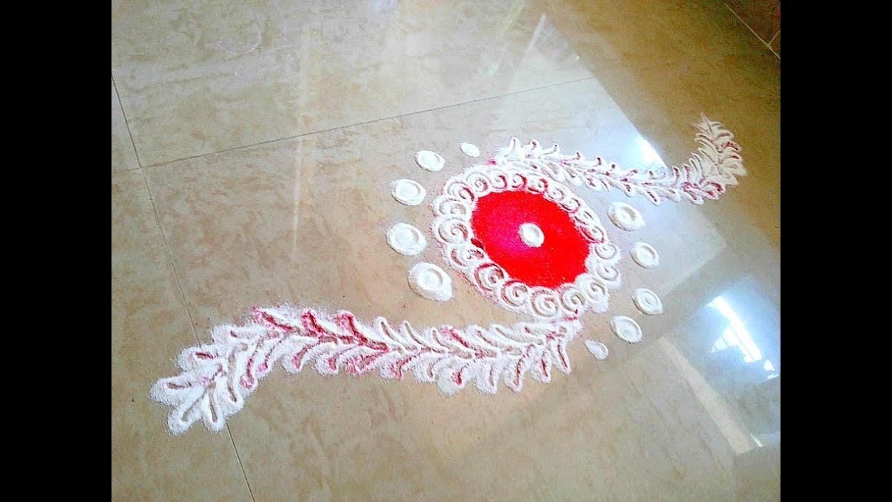 fancy colour rangoli designs  raksha bandhan rangoli designs } Rakhi ...