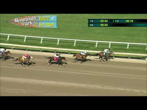 video thumbnail for MONMOUTH PARK 09-07-20 RACE 7