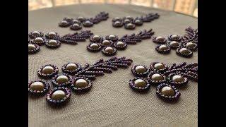 Bead work /saree design/easy embroidery
