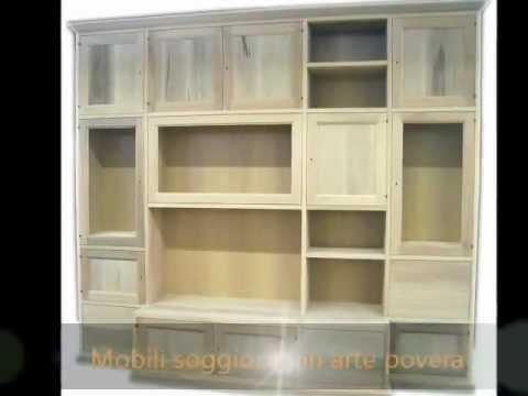 Librerie,pareti attrezzate,mobili ufficio, soggiorno,boaserie classiche in stile arte povera ...