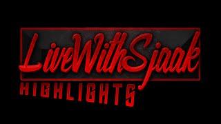 LiveWithSjaak Highlights - Powngames (Steven) geeft hype & mooie woorden aan Shaquille