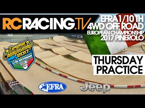 EFRA 1/10th 4WD Off Road Euros - Thursday Practice - Live