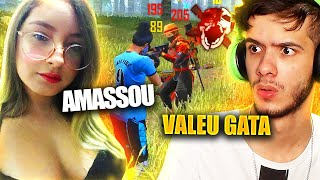 IMPRESSIONEI A GAROTA NO MODO CS DO FREE FIRE!