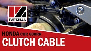 Motorcycle Clutch Cable Adjustment | Honda CBR | Partzilla.com