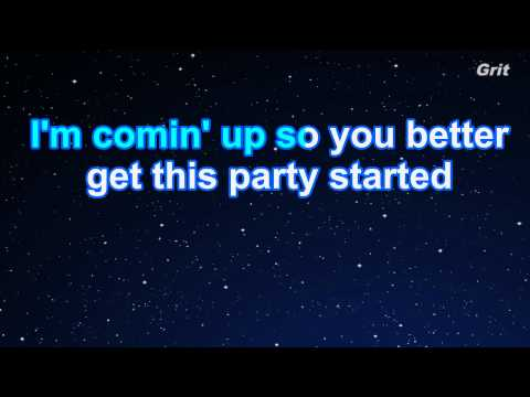 Get The Party Started - P!nk Karaoke【Guide Melody】