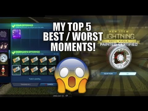 TOP 5 BEST TRADES / TRADE UPS IN ROCKET LEAGUE!