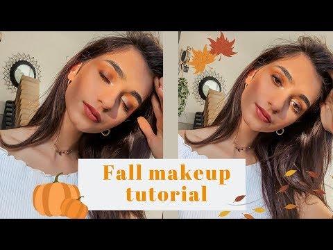 FALL MAKEUP TUTORIAL - توتوريال مكياج  لفصل الخريف #fallmakeup thumbnail