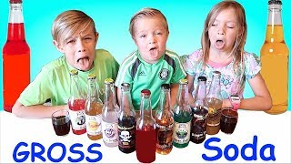 GROSS SODA CHALLENGE! KIDS DRINK BLOOD! DISGUSTING AND HILARIOUS!