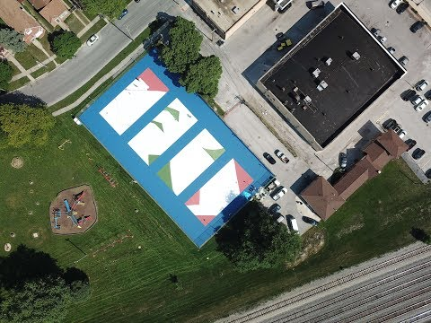 US Open Art Courts X Chase: Painting LIVE From Chicago
