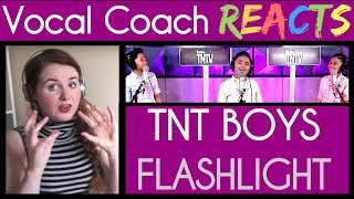 Vocal Coach Reacts to TNT Boys Singing Flashlight by Jessie J