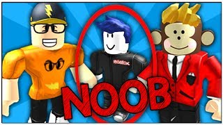 TEACHING A NOOB HOW TO PLAY ROBLOX ASSASSIN!!