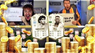 FIFA 20: PELE 99 VS MARADONA 99 SQUAD BUILDER BATTLE vs proownez 😱🔥