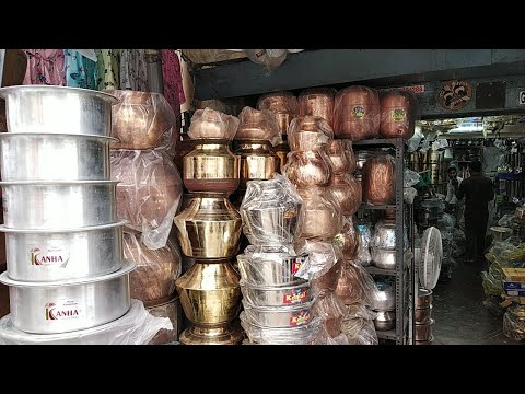 Traditional Brass&Copper #Kitchen Cookwears Shopping/Bangalore Stainless Steel Sets Wholesale Prices