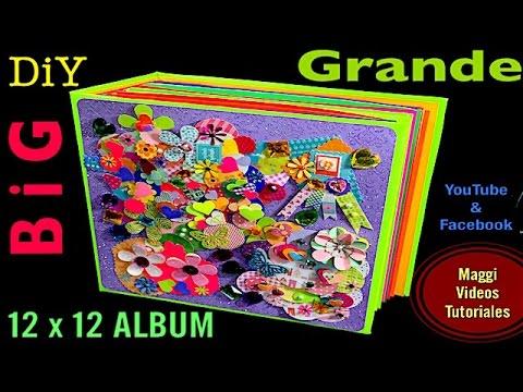 Como hacer un album grande de fotos scrapbook 12 x 12 - Como hacer un album de fotos ...