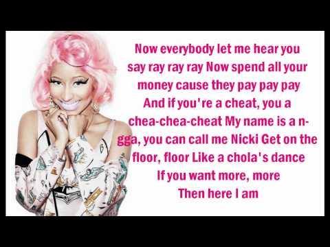Nicki Minaj - Starship (Lyrics On Screen)