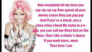 Nicki Minaj - Starship (Lyrics On Screen)