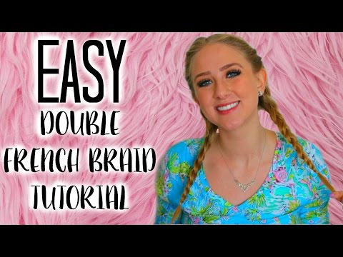 Hair Hack: So Easy Double French Braids