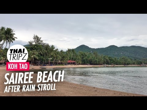 Sairee Beach - South to north by foot - Koh Tao - 4K