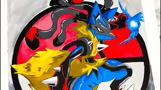 Painting Lucario (Pokemon) #Shorts