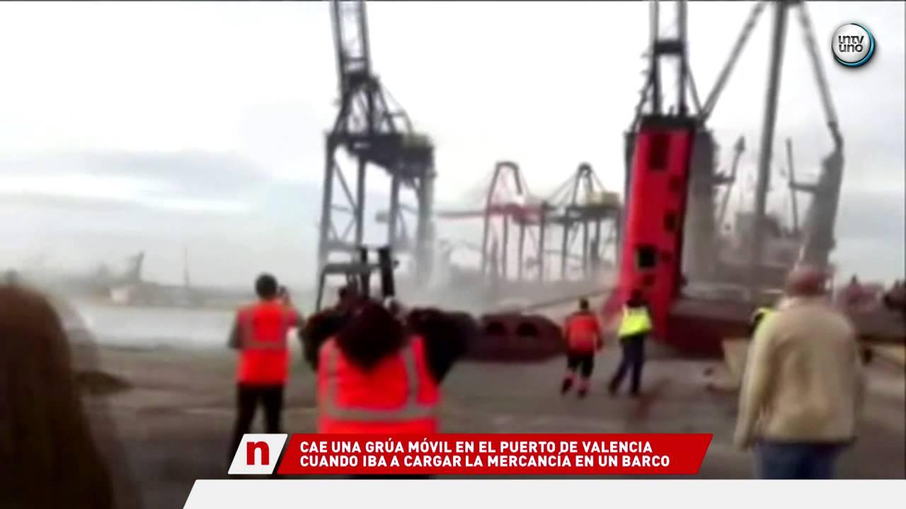 Cae una gr a de gran tonelaje en el puerto de valencia - Laydown puerto valencia ...