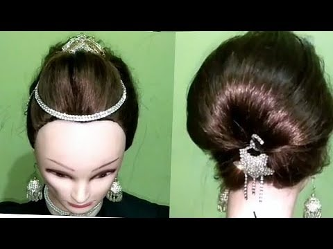 5min,quick hair styles,easy party hairstyle tutorial,indian pakistani hairstyles, thumbnail