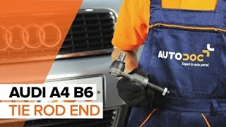 How to change Track rod end ball joint on AUDI A4 (8E2, B6) - online free video