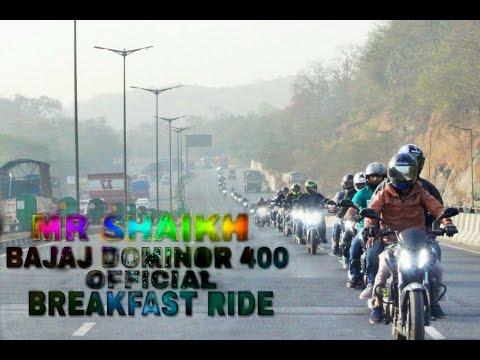 BAJAJ DOMINOR 400 | OFFICIAL BREAKFAST RIDE | MUMBAI | NH8 | HAPPY HOLI | GO PRO HERO 4 BLACK |
