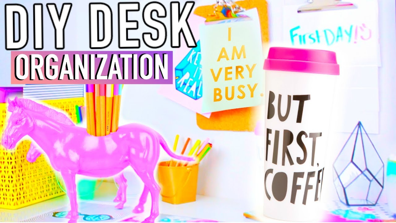 Diy Desk Decor Organization Accessories To Make Your Desk Cute