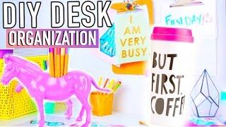 DIY Desk Decor & Organization + Accessories to make your Desk Cute!