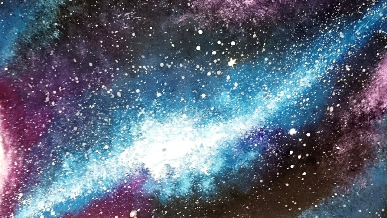 Galaxy painting  EASY PAINTING for beginners acrylic