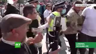 La manifestation contre les restrictions sanitaires finit par une grosse bagarre à Londres