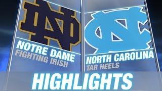Notre Dame vs North Carolina | 2014-15 ACC Men's Basketball Highlights