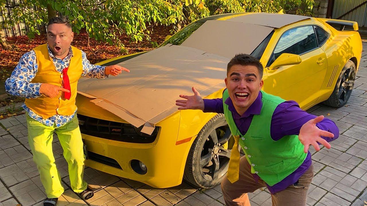 Mr. Joe HID Sports Car in CARDBOARD VS Older Mr. Joe on Camaro 13+