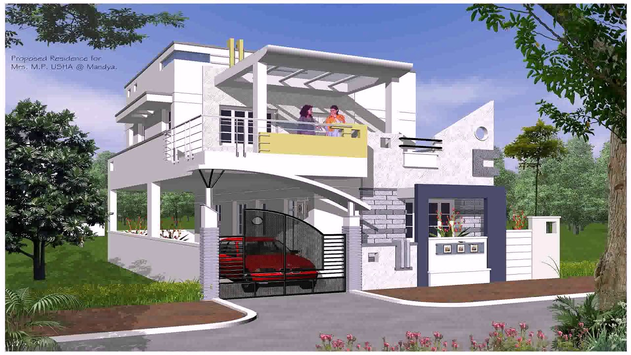 Indian House Exterior Staircase Design Gif Maker Daddygif Com | Staircase Outside House Design | Curved | Modern | Cool | Residential | Up Balcony