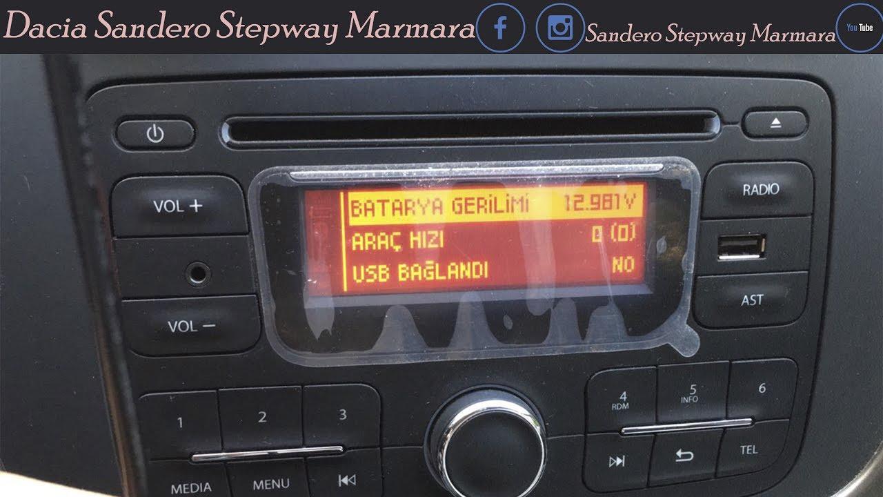 Original Radio ausbauen Dacia Logan MCV 2 / Sandero 2