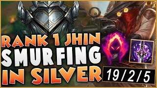 #1 JHIN Showing how to carry SILVER games! / Jhin Unranked to Challenger #1