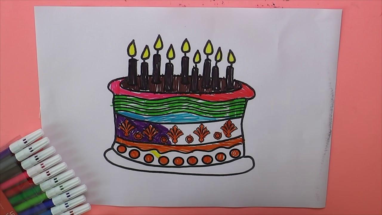 Doğum Günü Pastası Boyama Doğum Günü Pastası Nasıl Boyanır