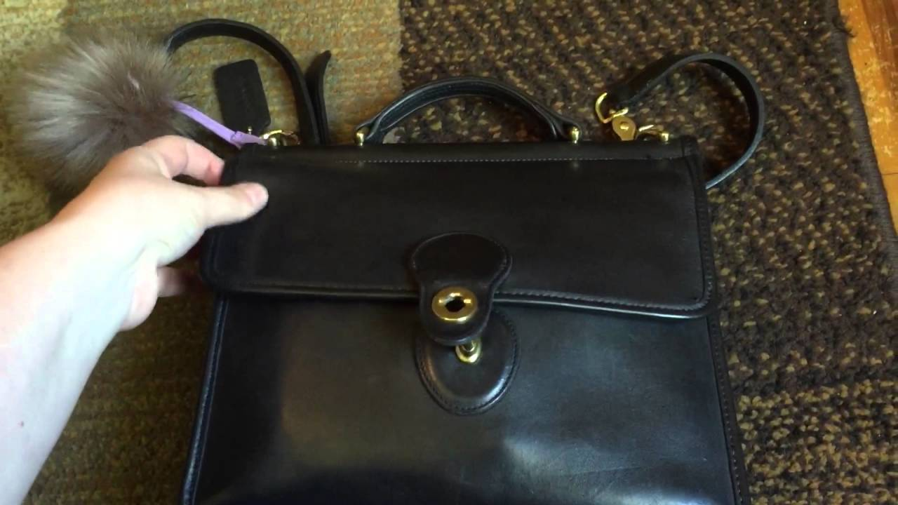 cee554232e Vintage coach Willis satchel!! - YouTube