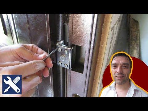 Как отрегулировать входную металлическую дверь с внутренними петлями