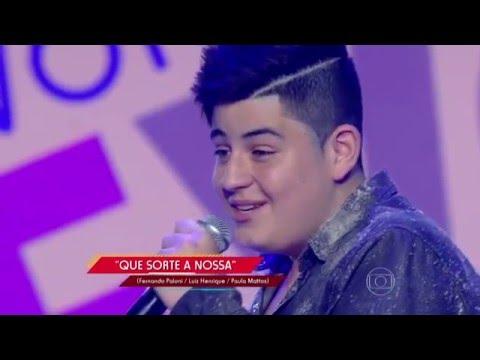 João Vitor canta 'Que Sorte a Nossa' no The Voice Kids - Audições|1ª Temporada
