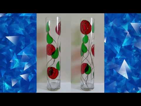 Glass Painted Mackintosh Style Vase project.