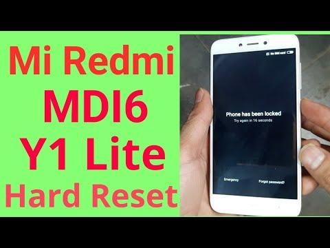 Mi Redmi MDI6 Y1 Lite Hard Reset Unlock pattern lock