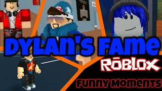 Dylan's fame | Roblox funny moments (Feat. TheHealthyCow, Hugo and Jaiden)