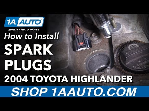 How to Install Replace Spark Plugs 2001-10 Toyota Highlander