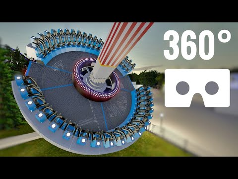 [VR 360 video] Roller Coaster POV Extreme Frisbee Ride Virtual Reality Nintendo VR Box