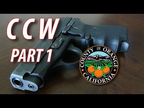 How to Get Your CCW in Orange County pt 1 of 2