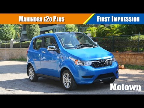 Mahindra e20 Plus City Smart electric car | First Impressions | Motown India