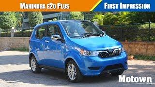 Mahindra e20Plus electric vehicle First Drive
