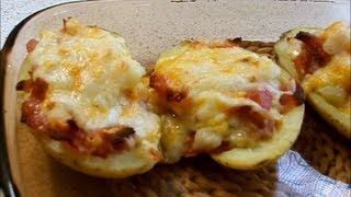 Картофель фаршированный беконом / Pommes de terre farcies au bacon
